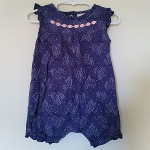 Tiny Little Wonders Baby Romper and Hat - Size 0